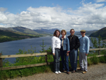 Loch Carron with clients from viewpoint
