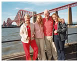 Tour group by the forth rail bridge